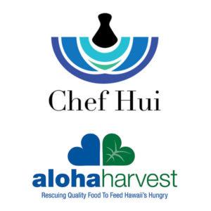 Chef Hui x Aloha Harvest logos
