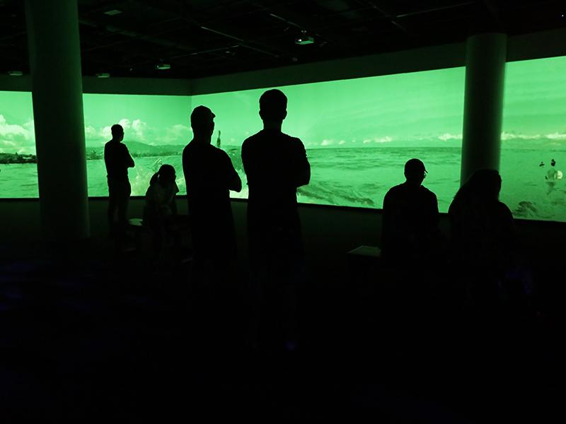 video screen silhouette