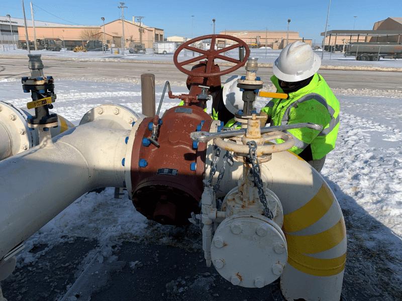 Repairing Fuel Hydrant System